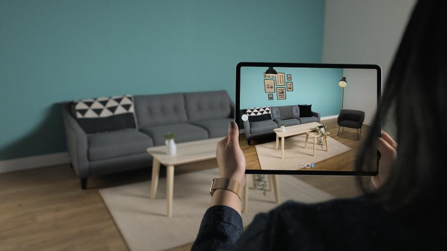 Experiência com realidade aumentada usando iPad Pro - Reprodução/ Apple