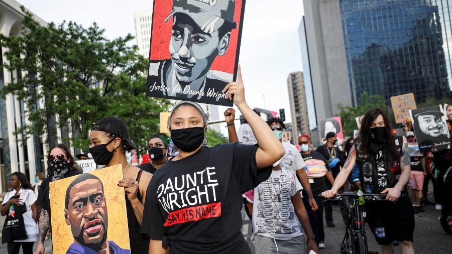 Manifestação marca o primeiro aniversário da morte de George Floyd em Minneapolis, nos EUA - REUTERS / Nicholas Pfosi