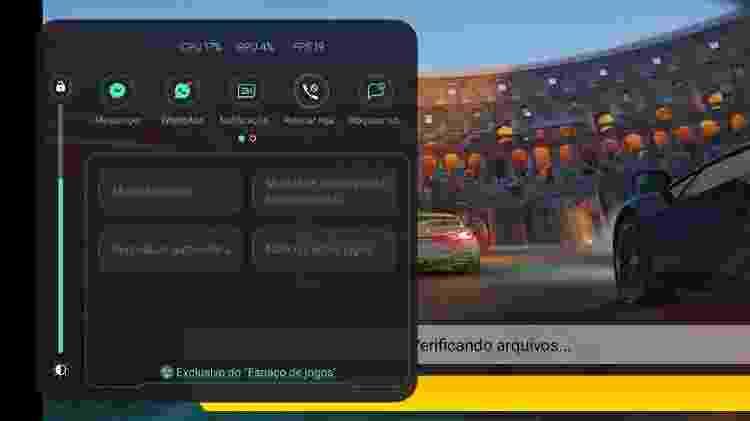 Espaço de Jogos, do Realme 7 5G, bloqueia chamadas e mensagens durante a jogatina - Guilherme Tagiaroli/Tilt - Guilherme Tagiaroli/Tilt