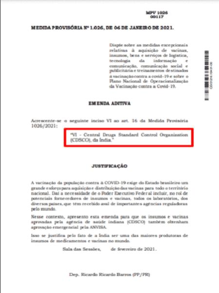Emenda 1 - Projeto Comprova - Projeto Comprova - Projeto Comprova