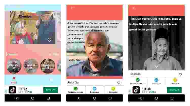 App para fazer mensagem para Dia dos Avós (Android) 2 - Reprodução - Reprodução