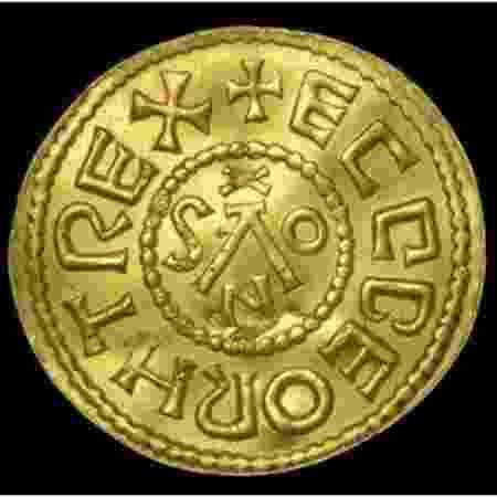 Moeda anglo-saxônica do reinado de Egberto - Reprodução/Dix Noonan Webb - Reprodução/Dix Noonan Webb