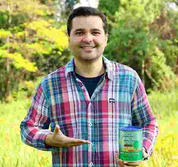 Leonardo de Matos, da Bosta em Lata, empresa de adubo orgânico - Divulgação