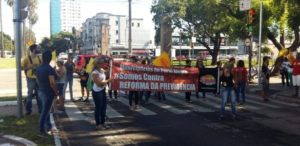 Porto Alegre: protestos não afetaram o trânsito gravemente - Reprodução/Facebook/SIMPA Sindicato dos Municipários de Porto Alegre