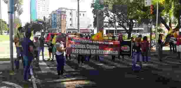 protesto porto alegre - Reprodução/Facebook/SIMPA Sindicato dos Municipários de Porto Alegre - Reprodução/Facebook/SIMPA Sindicato dos Municipários de Porto Alegre