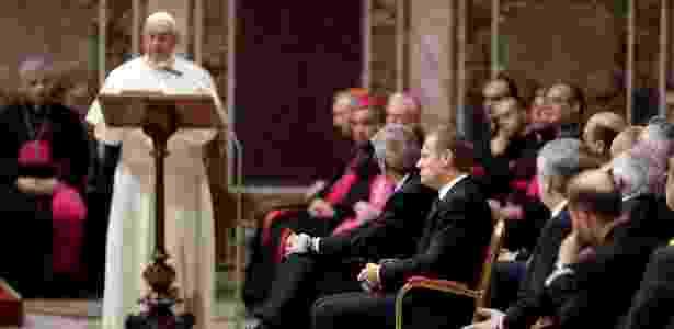O papa Francisco faz discurso a líderes da União Europeia no Vaticano - Andrew Medichini/Reuters