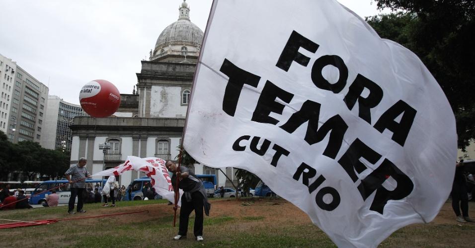 Manifestação contra o presidente Michel Temer no centro do Rio de Janeiro