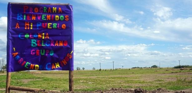 """Terreno onde serão construídas 20 casas do programa """"Bienvenidos a mi pueblo"""" em Colonia Belgrano"""