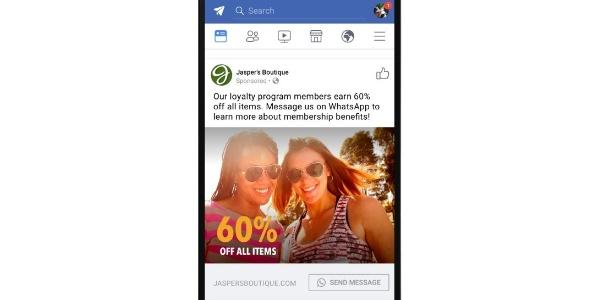 Anúncio no Facebook vai direcionar usuários para conversas no WhatsApp