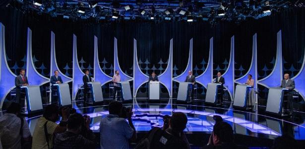 Resultado de imagem para Veja o Debate com os candidatos a presidência do SBT/UOL: