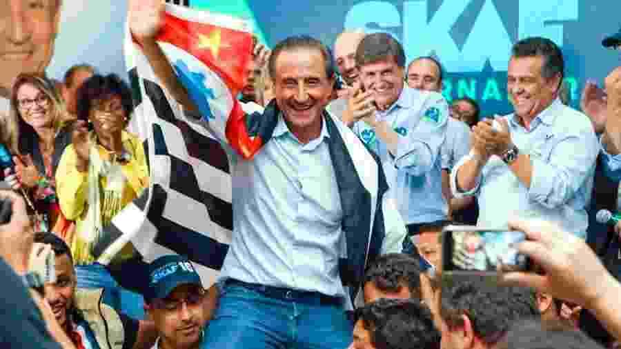 06.out.2018 - Paulo Skaf (MDB) em ato de campanha - Divulgação/Twitter Paulo Skaf