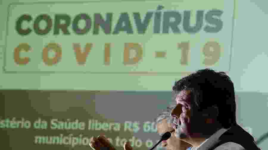Ministro Mandetta diz que o objetivo é descentralizar a oferta de respiradores de acordo com a realidade de cada estado - DIDA SAMPAIO/ESTADÃO CONTEÚDO