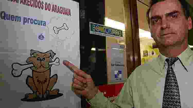 Deputado federal Jair Bolsonaro em frente a seu gabinete na Câmara dos Deputados - Divulgação - Divulgação