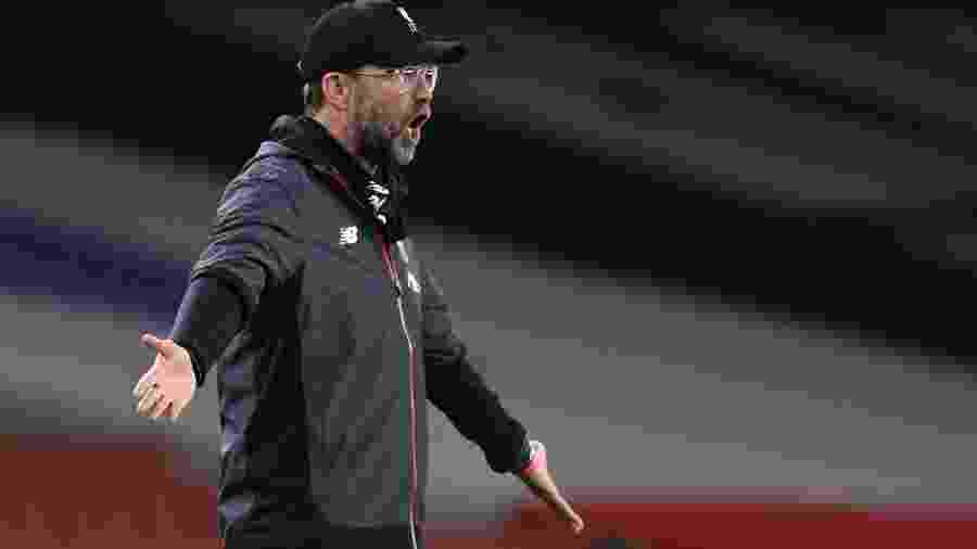 Técnico do Liverpool, Juergen Klopp, se depara com situação inusitada na primeira temporada pelo clube - SHAUN BOTTERILL