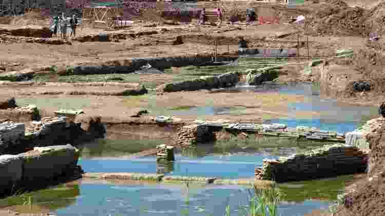 A piscina pode ter tido outras funções que não o banho, segundo os arqueólogos - Divulgação/Museu Nacional de Roma - Divulgação/Museu Nacional de Roma