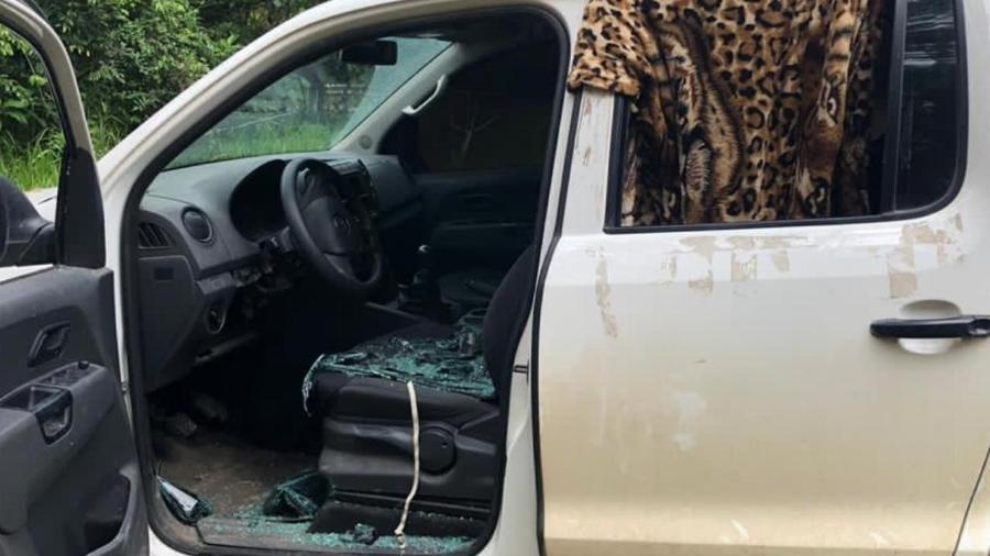 Rapaz levou corpo na caminhonete na caminhonete do pai e iria queimar o veículo para destruir provas - Divulgação/PM