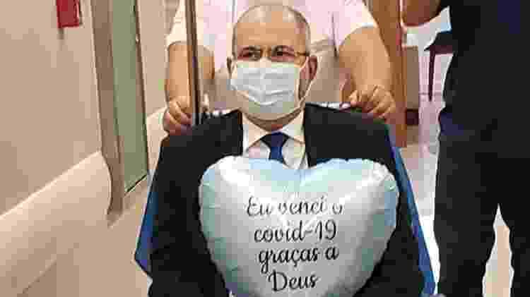 O deputado federal Hildo Rocha (MDB-MA) recebeu alta de hospital de Brasília após 18 dias de internação por conta da covid-19 - Divulgação - Divulgação