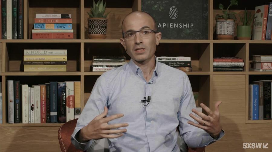 O historiador Yuval Noah Harari fala durante sessão no SXSW Online 2021 - Divulgação/ SXSW