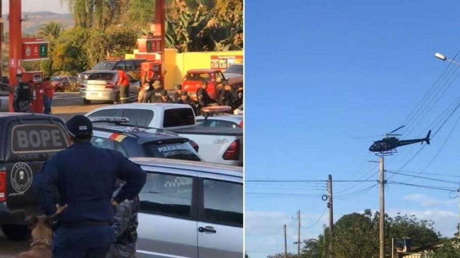 Policiais armaram base da operação num posto de gasolina em Edilândia - Mathias Folha/Arquivo Pesso