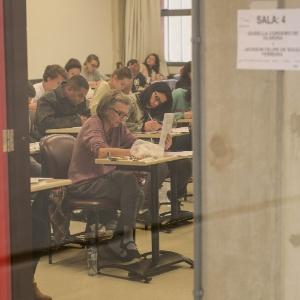 Estudantes de Curitiba (PR) fazem as provas do segundo dia do Enem (Exame Nacional do Ensino Médio) em 2015