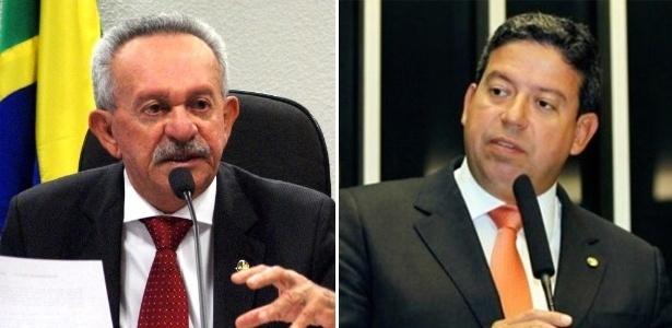 À esq., o senador Benedito de Lira e seu filho, o deputado federal Arthur Lira, ambos do PP