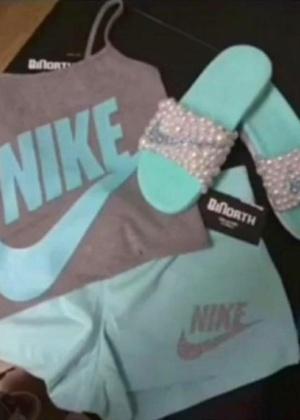 Esta roupa de ginástica é branca e rosa ou cinza e azul? - Reprodução