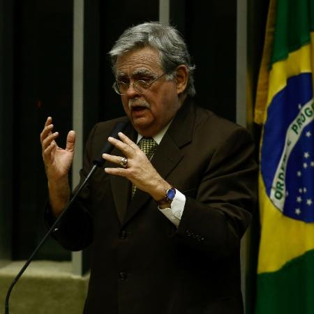 2.ago.2017 - O advogado do presidente Michel Temer, Antonio Claudio Mariz, durante sessão na Câmara dos Deputados - Pedro Ladeira/Folhapress