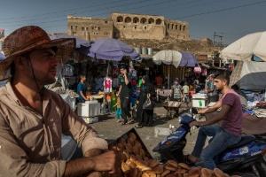 Cresce a pressão sobre os curdos iraquianos para que cancelem o referendo sobre a independência (Foto: IVOR PRICKETT/NYT)