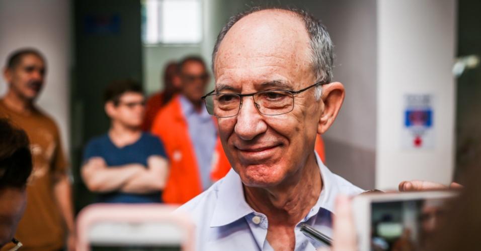 Rui Falcão, ex-presidente do PT, comparece ao Sindicato dos Metalúrgicos do ABC para acompanhar ao julgamento do ex-presidente Lula no TRF-4 em Porto Alegre