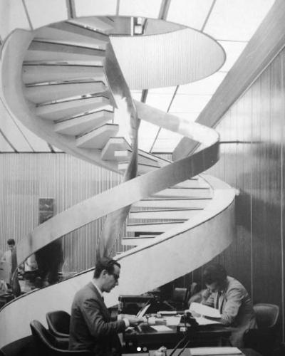 1º.mai.2018 - Foto de arquivo do interior do edifício Wilton Paes de Almeida, projetado pelo arquiteto sírio-brasileiro Roger Zmekhol na década de 1960. O prédio tinha 24 andares, era tombado pelo patrimônio histórico e, desde 2002, pertencia à União, mas estava ocupado irregularmente