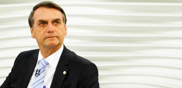 30.jul.2018 - O candidato à Presidência da República pelo PSL, Jair Bolsonaro, participa do Roda Viva
