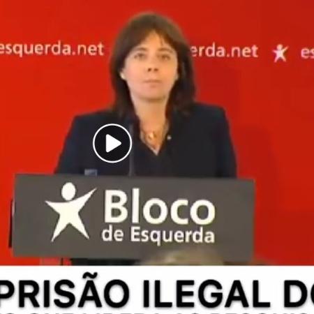 Deputada portuguesa criticou a prisão de Lula, mas não pediu retaliação ao Brasil - Reprodução/Facebook