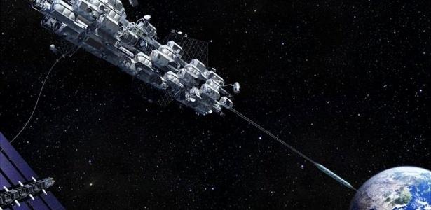 Japão pretende construir um elevador da Terra ao espaço, capaz de transportar 30 pessoas em uma espécie de contêiner em forma oval
