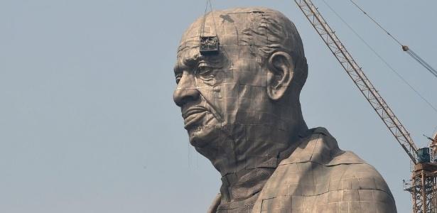 A estátua de Sardar Vallabhbhai Patel tem 182 metros de altura - Getty Images