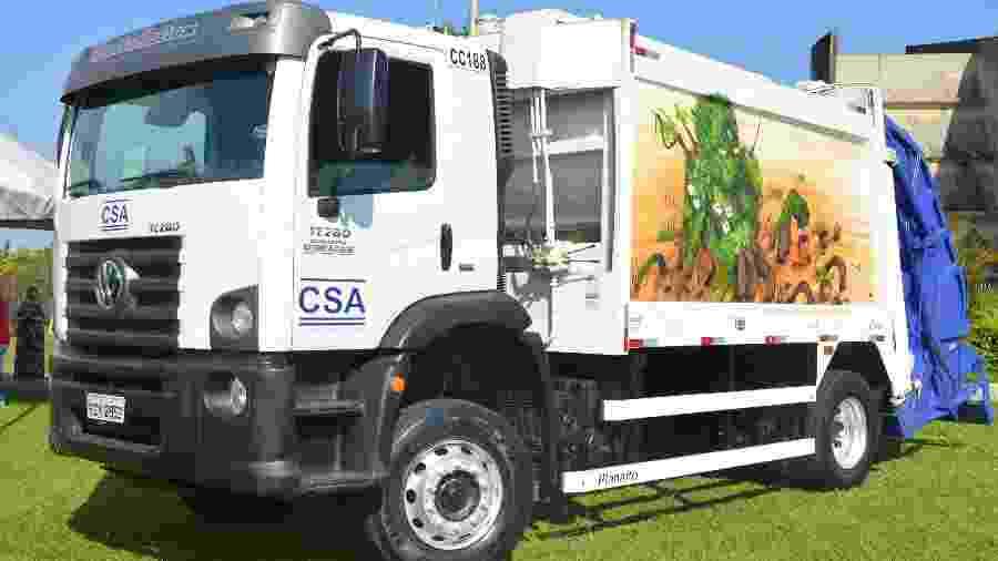 Caminhão de lixo com grafite na cidade de Sorocaba (SP) - Adler M. de Barros/Reprodução