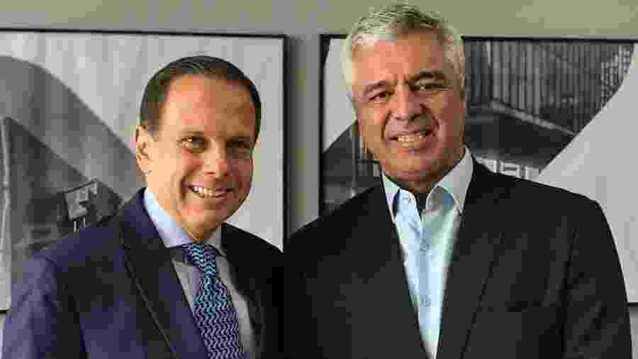 Doria (esq.) e Olimpio em encontro em novembro de 2018, após a eleição em que foram eleitos governador e senador, respectivamente - 12.nov.2018 - Divulgação