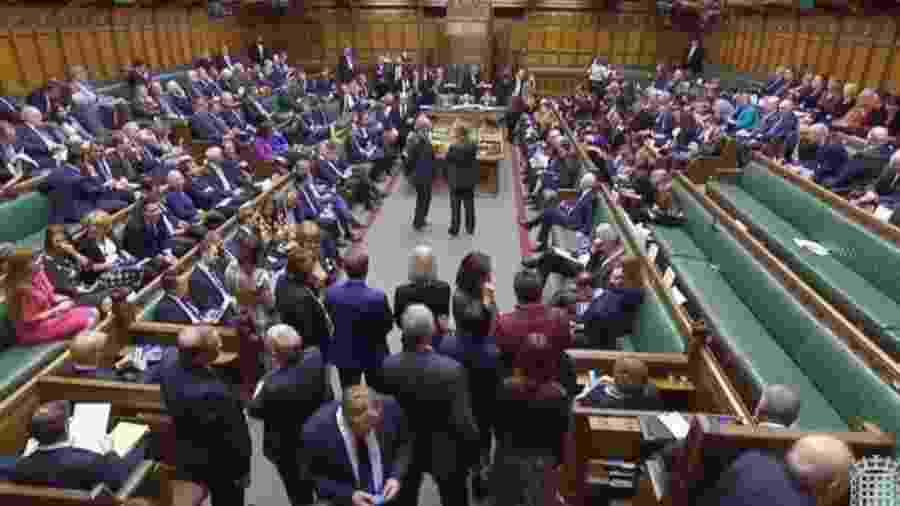 Proposta de extensão do prazo do Brexit por pelo menos três meses foi aprovado nesta quinta com mais de 400 votos - UK PARLIAMENTARY RECORDING UNIT/DIVULGAÇÃO