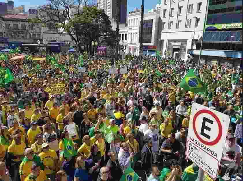 Manifestação a favor do governo em Campinas - Reprodução/Twitter