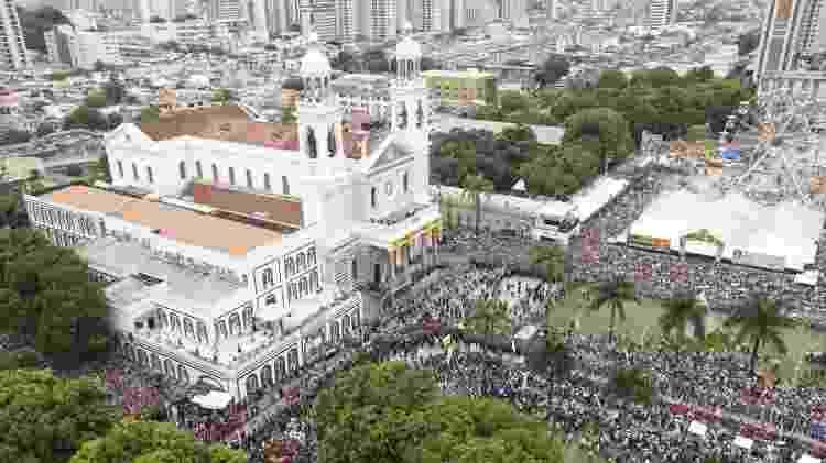 Basílica de Nazaré durante o Círio - Marcelo Seabra/Ag.Pará - Marcelo Seabra/Ag.Pará