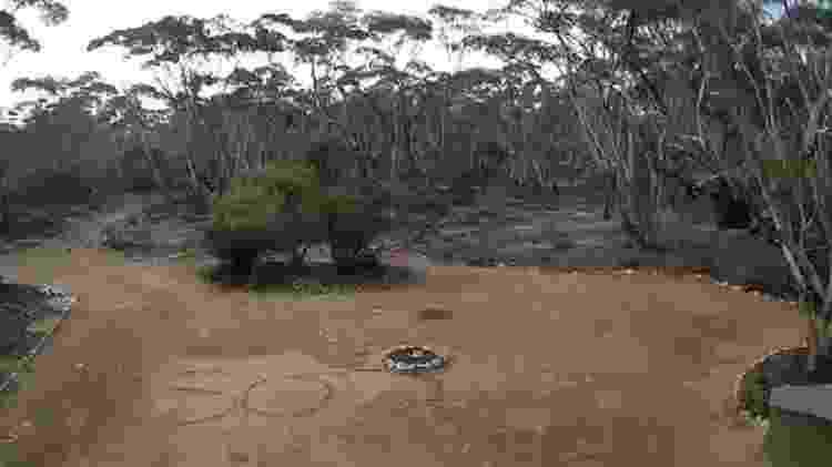 """Pilgrim escreveu """"SOS"""" na entrada de uma propriedade da região - South Australia Police"""