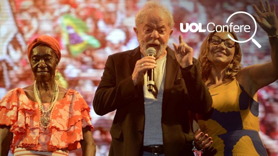 Lula e a namorada, a socióloga Rosângela da Silva - Arte UOL sobre fotografia de Leo Caldas/Folhapress