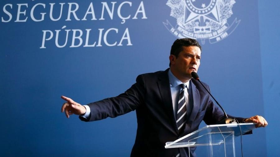 O ministro da Justiça e Segurança Pública, Sergio Moro, durante seminário para comemorar o Dia Internacional Contra a Corrupção. - Marcelo Camargo/Agência Brasil Brasilia-DF