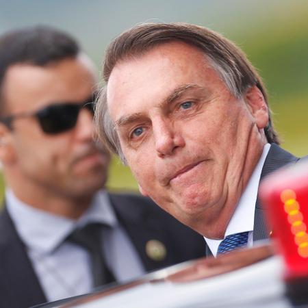 Presidente Jair Bolsonaro deixa o Palácio da Alvorada - ADRIANO MACHADO