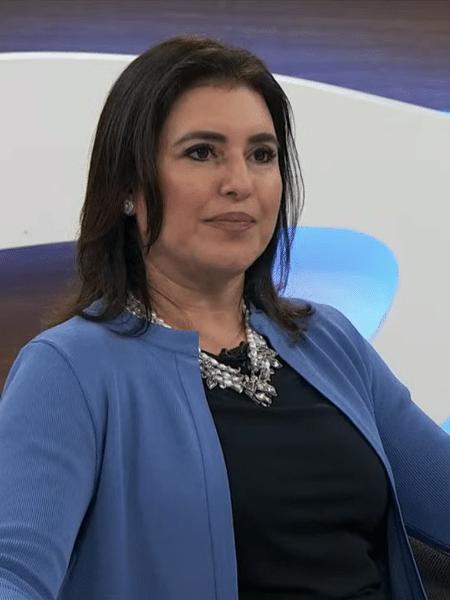 A senadora Simone Tebet, presidente da CCJ - Reprodução