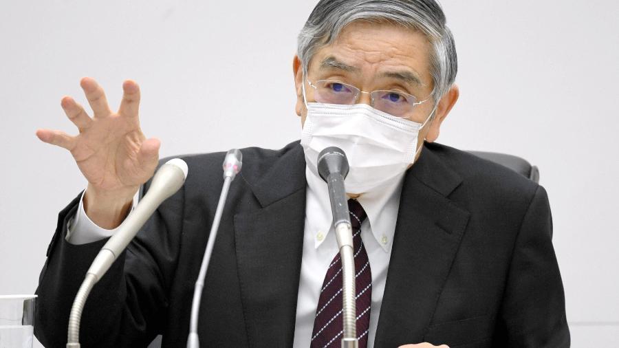 Kuroda reconheceu que os mercados têm reagido com nervosismo às dificuldades financeiras da Evergrande  - KYODO Kyodo/Reuters
