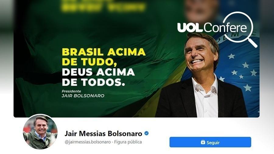 Imagem de abertura do perfil de Jair Bolsonaro no Facebook - Reprodução/Arte UOL