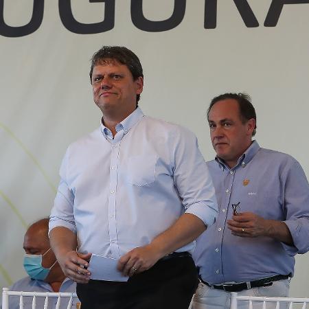 """Tarcisio Gomes de Freitas, ministro da Infraestrutura classificou como """"extremamente positivo"""" o resultado - Marcos Corrêa/PR"""