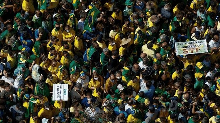 Manifestações do dia 7 de setembro foram marcadas por aglomerações - Getty Images - Getty Images