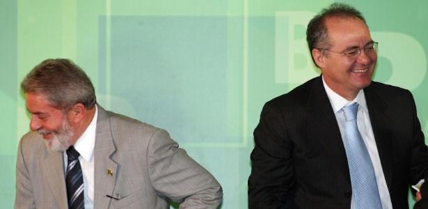 Lula e Renan juntos em 2007; apoio do PT ao senador desagrada a base petista em AL