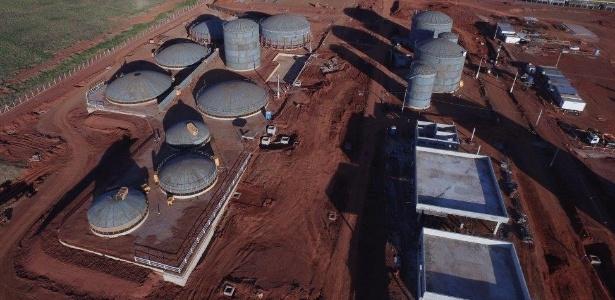 O futuro terminal de distribuição de combustíveis em Rondonópolis (MT), que está sendo construído pela WTorre para a BR Distribuidora. Estatal quer cancelar negócio